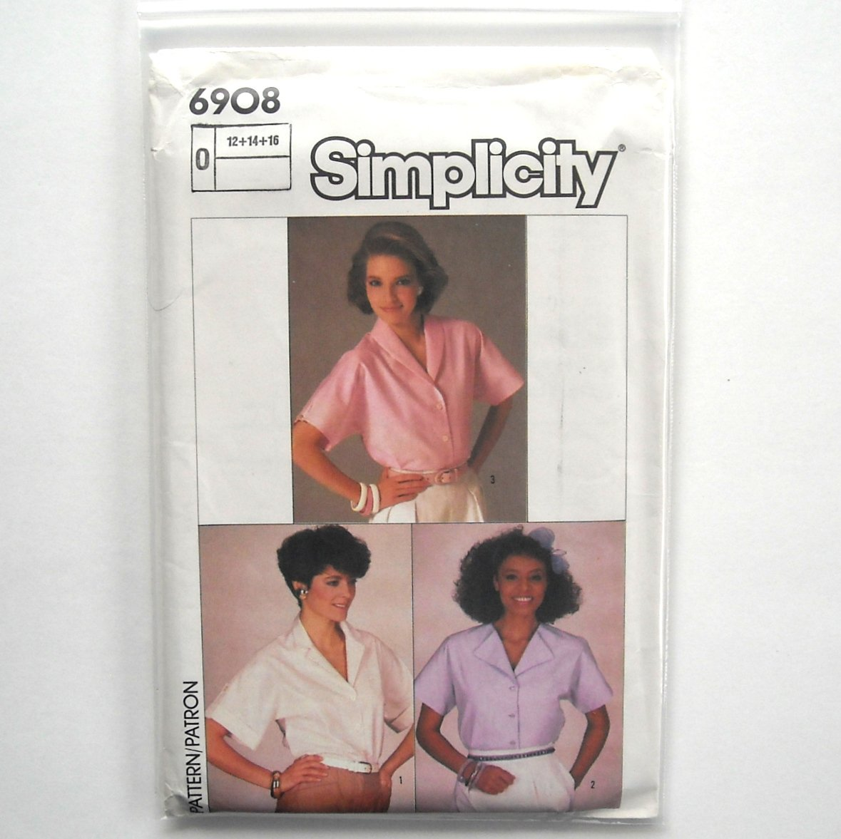 Easy To Sew Blouses 12 14 16 Vintage Simplicity Sewing Pattern 6908