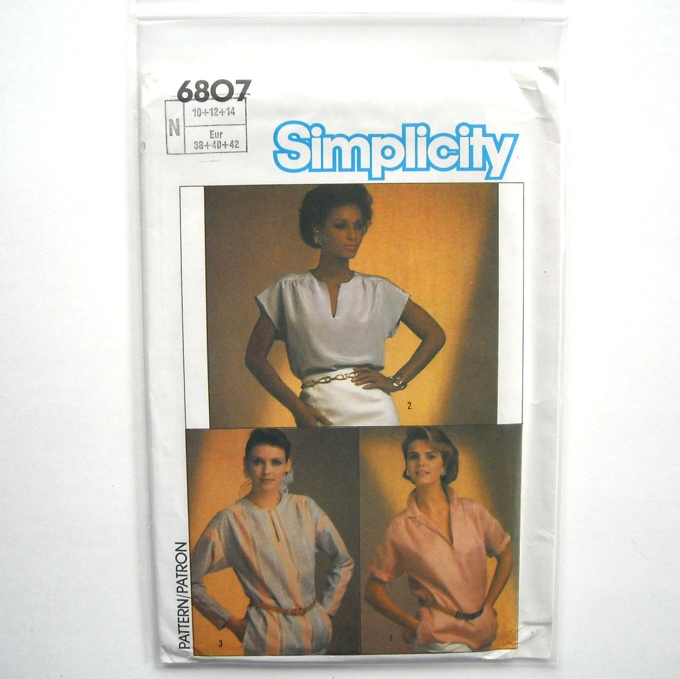 Tops Easy To Sew 10 12 14 Vintage Simplicity Sewing Pattern 6807