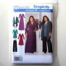 Misses Knit Dress Cardigan Pants 10 12 14 16 18 Simplicity Sewing Pattern 1733