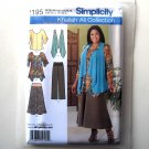 Tunic Top Pants Skirt 10 12 14 16 18 Simplicity Sewing Pattern 2195