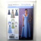Misses Special Occasion Dress 6 8 10 12 14 Simplicity Sewing Pattern 2442