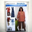Womens Dress Tunic Pants Vest Plus Size Simplicity Sewing Pattern 2635