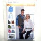 Men Misses Shirt Vest Boxer Shorts Size M L XL Easy Simplicity Sewing Pattern 2741