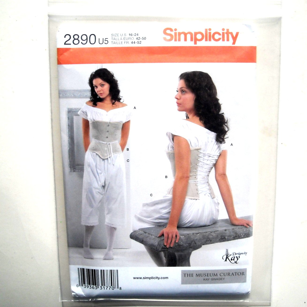 Misses Drawers Chemise Corset Simplicity Sewing Pattern 2890