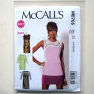Misses Easy Tops Tunics L XL XXL Out Of Print McCalls Sewing Pattern M6705