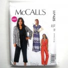Misses Shrug Dress Jumpsuit 8 10 12 14 16 McCalls Sewing Pattern MP425