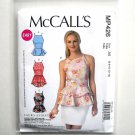 Misses Peplum Tops 6 8 10 12 14 McCalls Sewing Pattern MP426