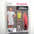 Misses Womens Tunic Shorts Knit Leggings 12 14 16 18 20 Simplicity Sewing Pattern S0879