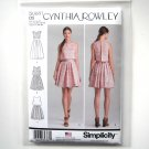 Misses Dress 4 6 8 10 12 Cynthia Rowley Simplicity Sewing Pattern S0881