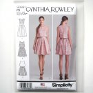 Misses Dress 12 14 16 18 20 Cynthia Rowley Simplicity Sewing Pattern S0881