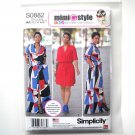 Misses Shirt Dress 10 12 14 16 18 Simplicity Sewing Pattern S0882