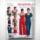 Misses Womens Jumpsuit Romper XXS XS S M L XL XXL Simplicity Sewing Pattern S0883
