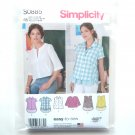 Misses Shirt Pullover Top 14 16 18 20 22  Simplicity Sewing Pattern S0885