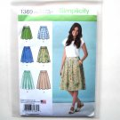 Misses Skirts 14 16 18 20 22 Simplicity Sewing Pattern 1369