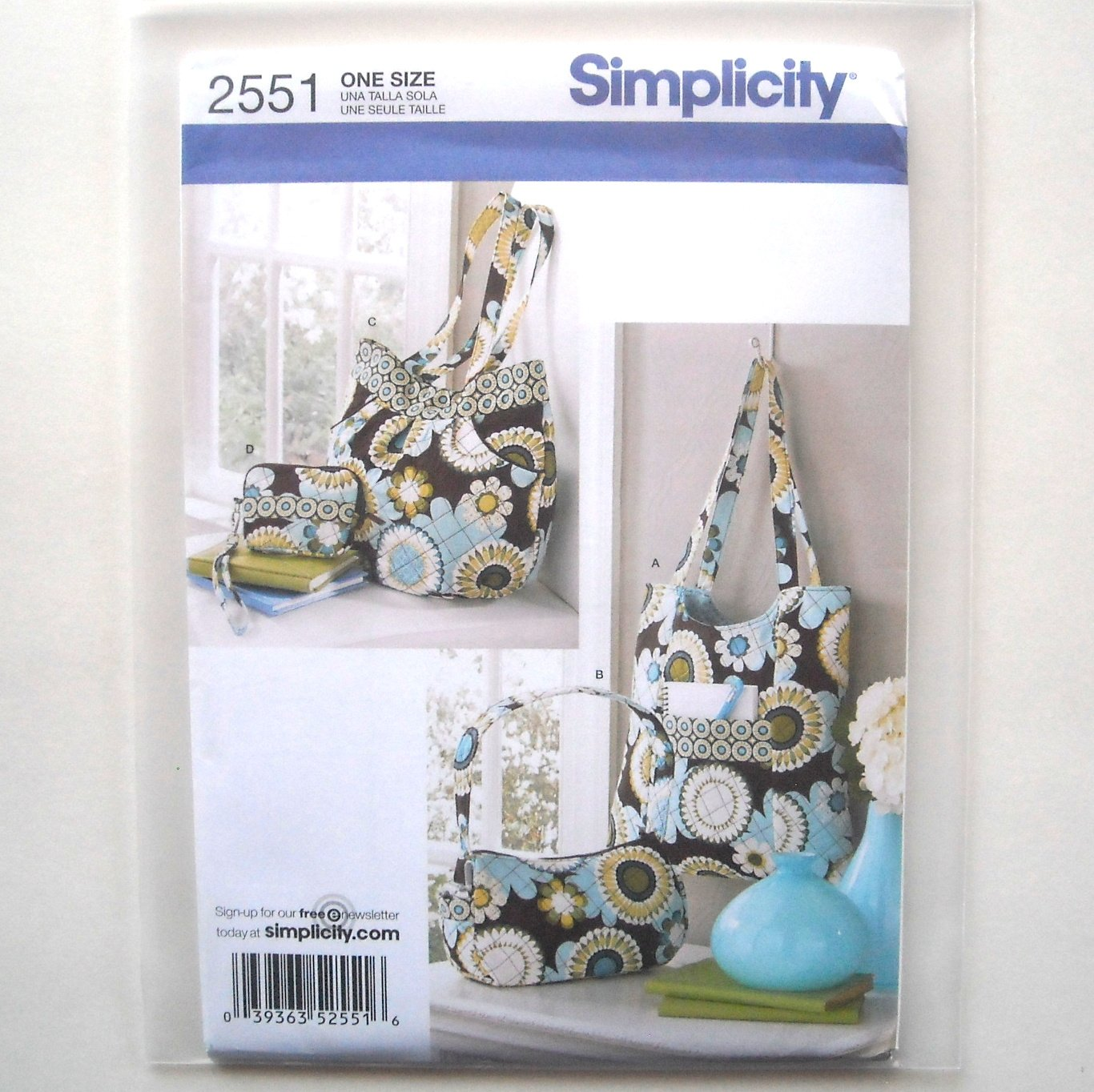 Womens Misses Accessory Bags Simplicity Sewing Pattern 2551