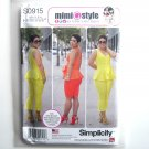 Misses Peplum Top Cropped Pants Shorts 6 8 10 12 14 Simplicity Sewing Pattern S0915