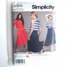 Two Piece Dress Misses 6 8 10 12 14 Simplicity Sewing Pattern S0916