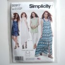 Tank Dress Tunic Misses 4 6 8 10 12 Simplicity Sewing Pattern S0917