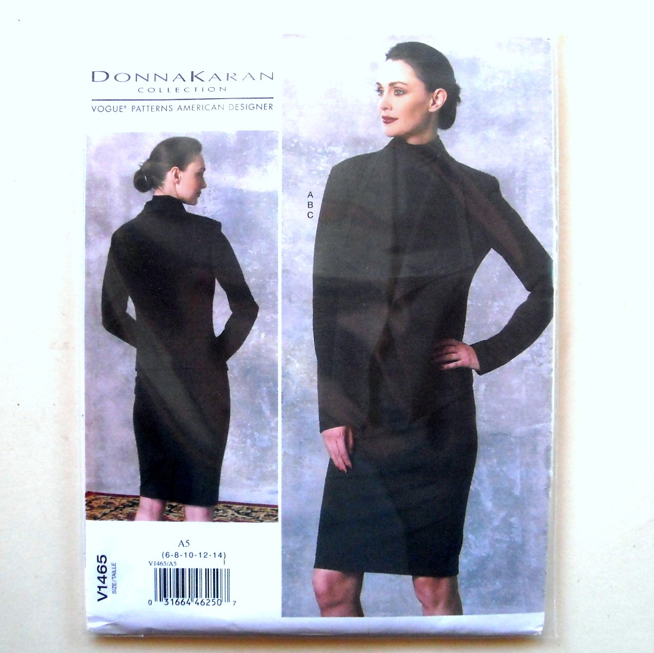 Skirt Top Jacket 6 - 14 Donna Karan Vogue Designer Sewing Pattern V1465