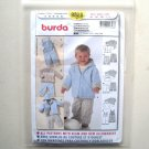 Overalls Hoodie Jacket Burda Kids Sewing Pattern 9828