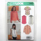 Misses Button Front Shirts Simplicity New Look Sewing Pattern 0984