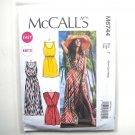 Misses Elastic Waist Summer Dresses XS S M McCalls Sewing Pattern M6744