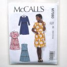 Misses Pullover Dresses 6 8 10 12 14 McCalls Sewing Pattern M7080