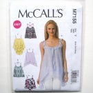 Misses Tank Tops XS S M McCalls Sewing Pattern M7155