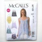 Misses Tank Tops L XL XXL McCalls Sewing Pattern M7155