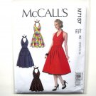 Misses Halter Dresses McCalls Sewing Pattern M7157