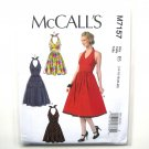 Womens Halter Dresses McCalls Sewing Pattern M7157
