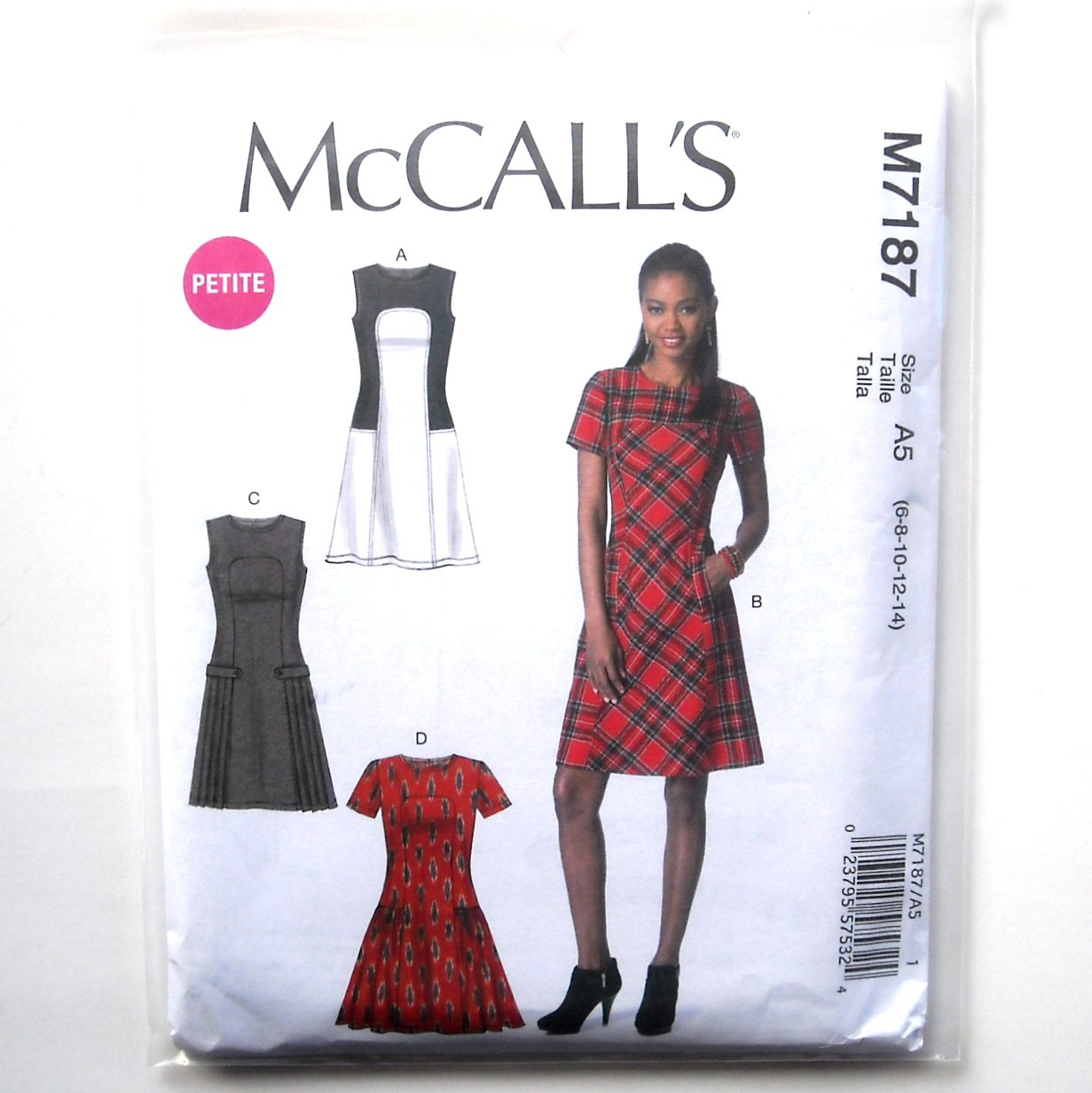 Misses Dresses 6 - 14 McCalls Sewing Pattern M7187