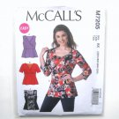 Womens Misses Princess Tops Plus Sizes 26W - 32W McCalls Sewing Pattern M7205