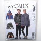 Misses Mens Sweatshirt Jacket L XL XXL McCalls Sewing Pattern M7298