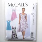 Womens Misses Pleated Summer Dresses 14 16 18 20 22 McCalls Sewing Pattern M7317