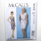 Womens Misses V Neck Dresses 14 16 18 20 22 McCalls Sewing Pattern M7318