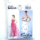 Strapless Dress Detachable Train 1950s Style 6 - 14 Butterick Sewing Pattern BP288