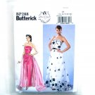 Misses Womens Strapless Dress Detachable Train Belt 14 - 22 Butterick Sewing Pattern BP288