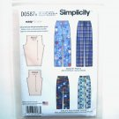 Child Teens Adults Easy Pants Unisex XS S M L XL Simplicity Sewing Pattern D0587