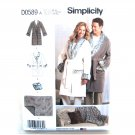 Misses Mens Teens Robes Blanket Pillow XS S M L XL Simplicity Sewing Pattern D0589