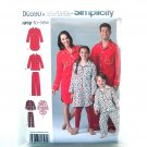Loungewear PJs Easy To Sew XS S M L XL Simplicity Sewing Pattern D0590