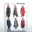 Misses Womens Knit Cardigan Vest XXS - XXL ASG Simplicity Sewing Pattern S0992