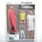 Misses Tunic Shorts Knit Leggings 4 - 12 Project Runway Simplicity Sewing Pattern S0993