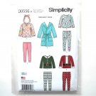 Toddlers Robe Knit Pants Tops 1/2 - 4 Karen Z Simplicity Sewing Pattern D0556
