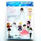 Doll Fairytale Wedding Dress Andrea Schewe Simplicity Sewing Pattern 0382