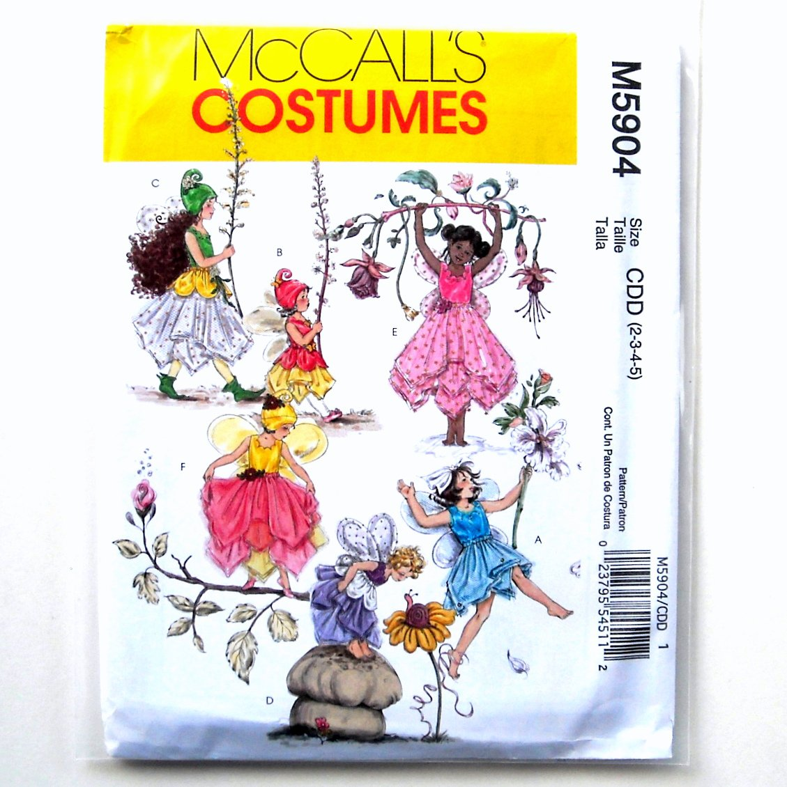 Childrens Girls Fairy Costumes McCalls Sewing Pattern M5904