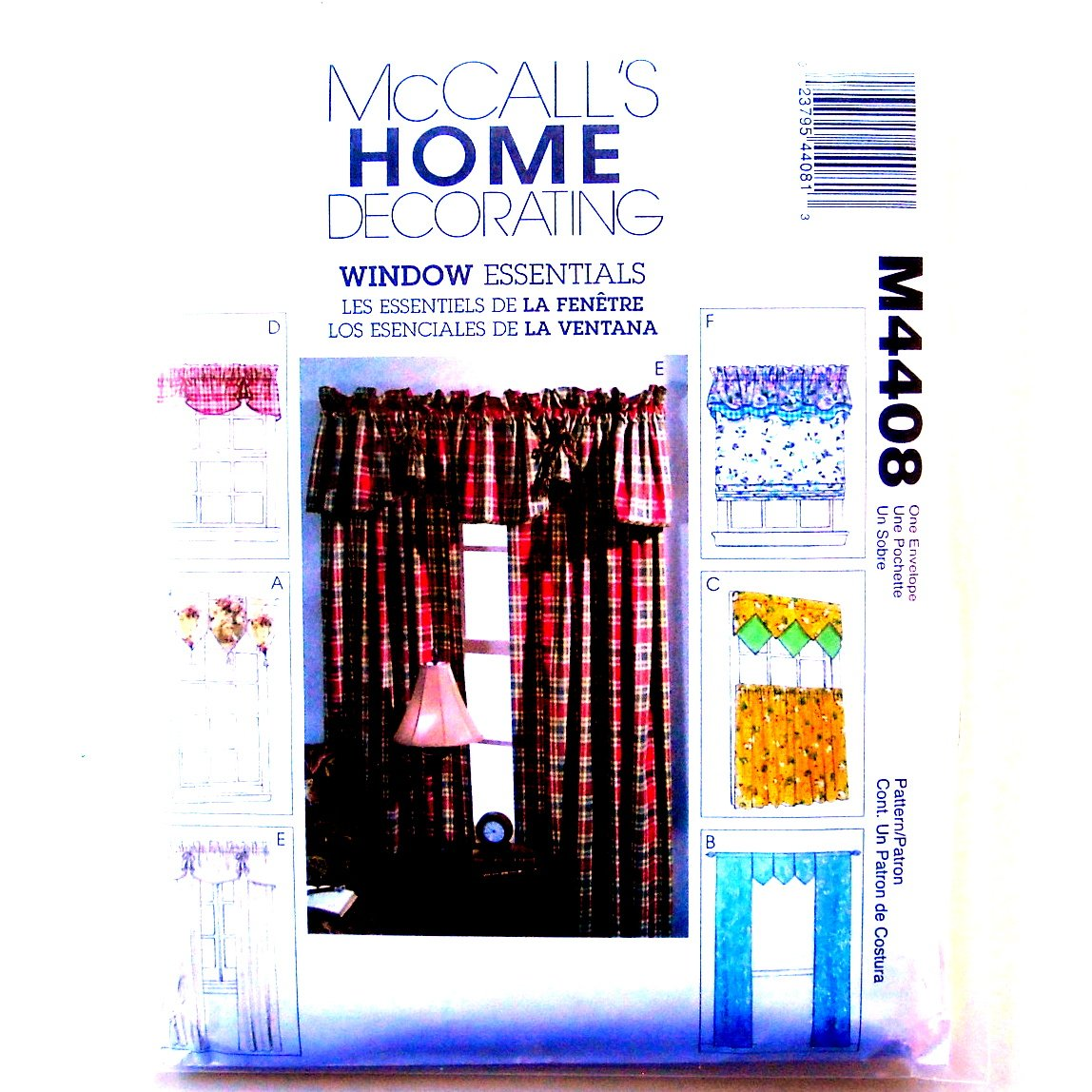 Window Valances Curtain Panels Home Decorating McCalls Sewing Pattern M4408