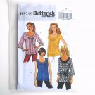 Misses Top Tunic Belt 16 - 22 Fast Easy Butterick Sewing Pattern B5219