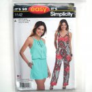 Misses Jumpsuit XS - XL Easy Simplicity Sewing Pattern 1142