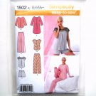 Misses Pants Shorts Nightshirt Top XS - XL Easy Simplicity Sewing Pattern 1502